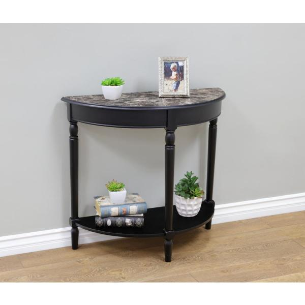MegaHome Black Console Table