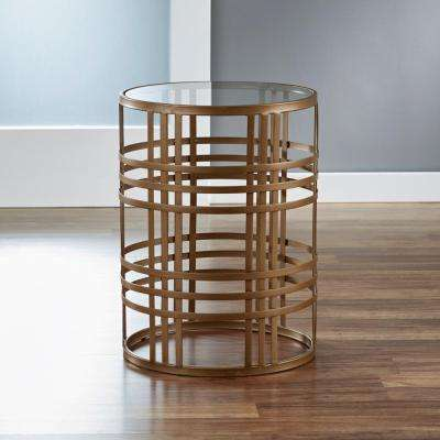 Gold Weave Side Table