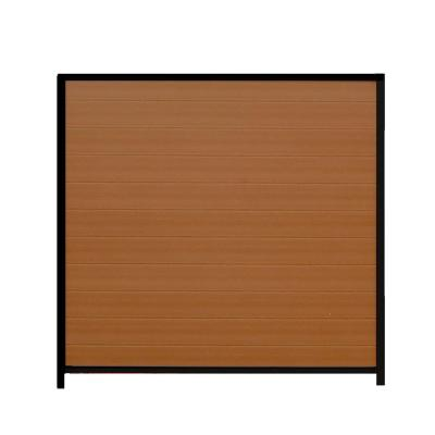 Santa Fe 6 ft. x 6 ft. Timber Brown/Black Composites and Steel Privacy Fence Panel