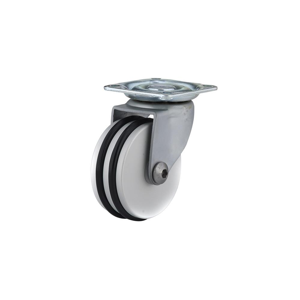 1-31/32 in. black and Aluminum Swivel Without Brake Plate Caster, 88.2