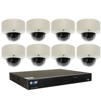 8-Channel with POE Switch H.265 5MP Camera 2.8 to 12 mm Varifocal Zoom Lens 100 ft. Night Vision Digital WDR 2TB HDD