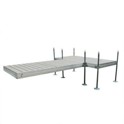 12 ft. T-Style Aluminum Frame with Decking Complete Dock Package