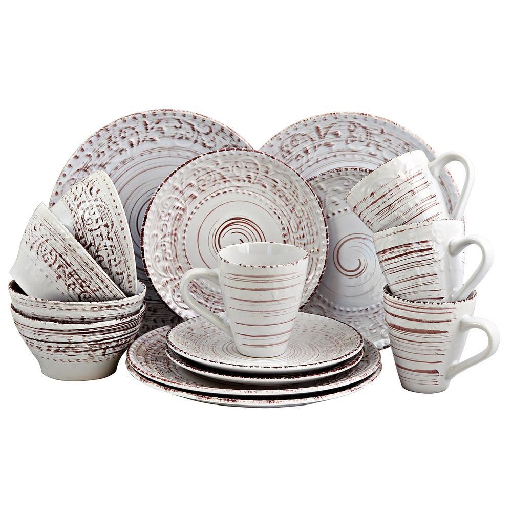Malibu Sands 16-Piece Shell Dinnerware Set