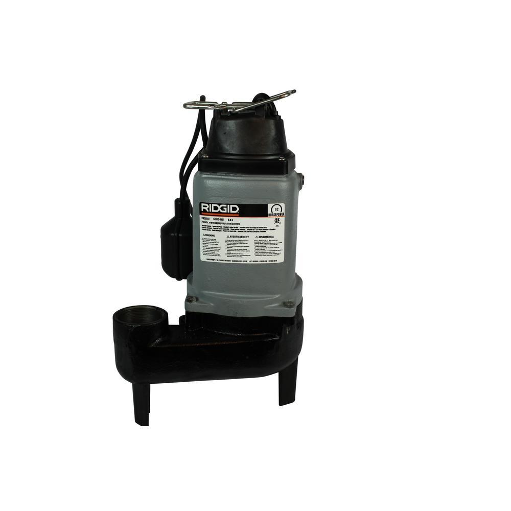 RIDGID RIDGID 1/2 HP 120-Volt Sewage Pump