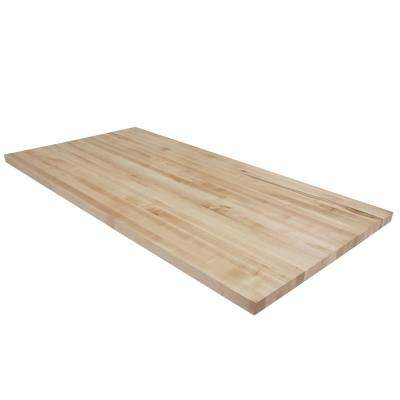 5 ft. L x 2 ft. 6 in. D x 1.5 in. T Butcher Block Countertop in Finished Maple