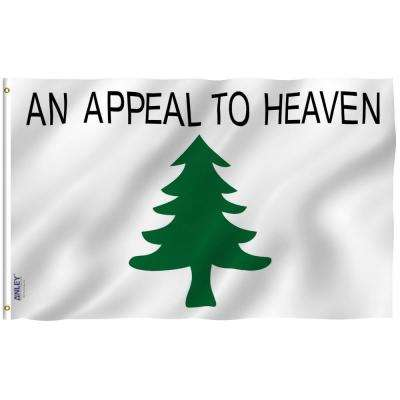 Fly Breeze 3 ft. x 5 ft. Polyester An Appeal To Heaven Flag 2-Sided Flag Banner with Brass Grommets and Canvas Header