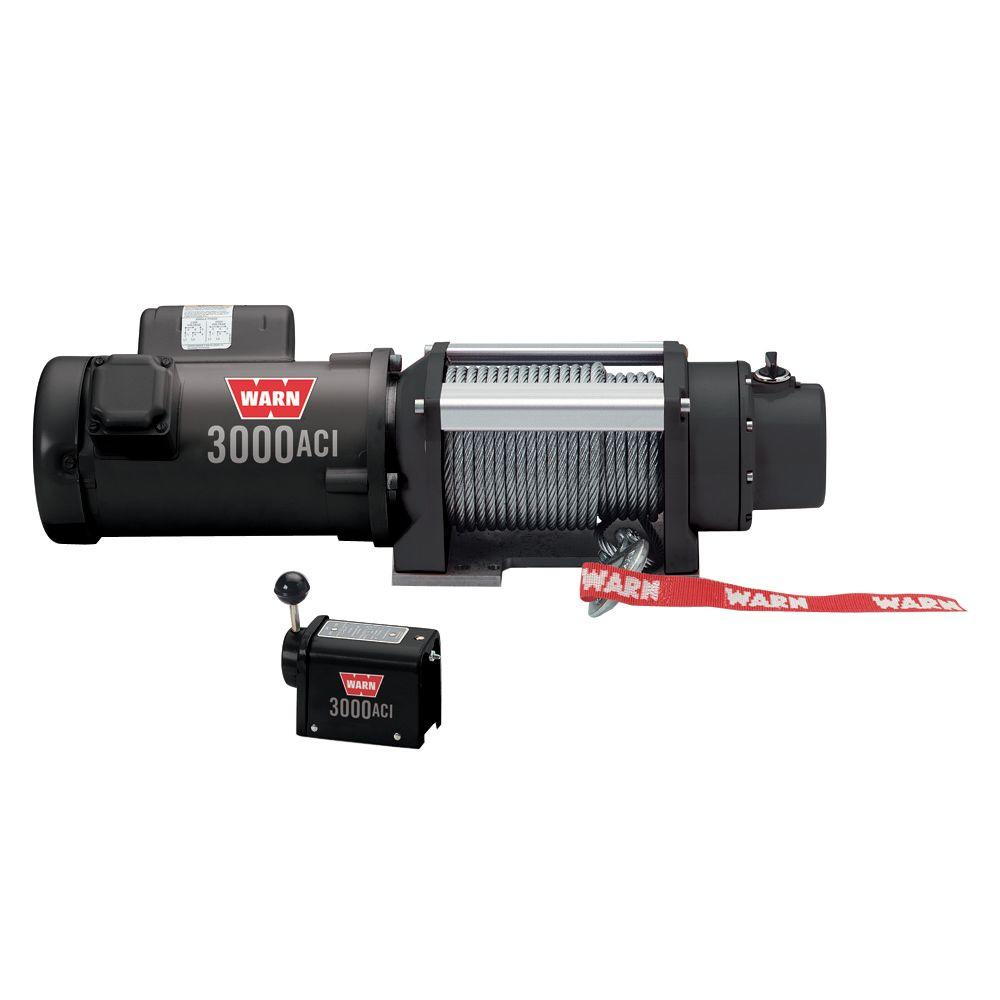 warn 3000 lbs 120 volt ac utility winch 93000 the home depot120 volt ac utility winch