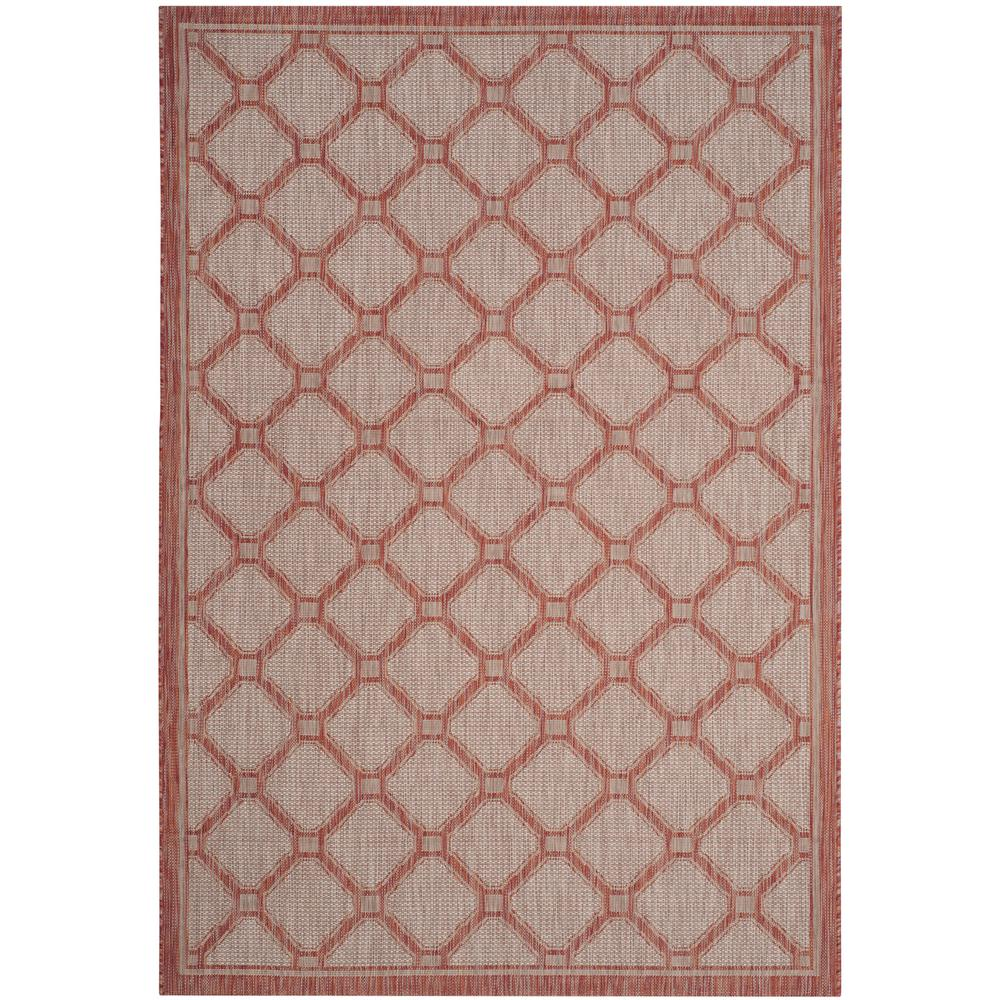 Safavieh courtyard red beige 9 ft x 12 ft indoor outdoor for Faux sisal rugs home depot