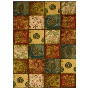 Artifact Panel Multi 5 ft. x 7 ft. Patchwork Area Rug