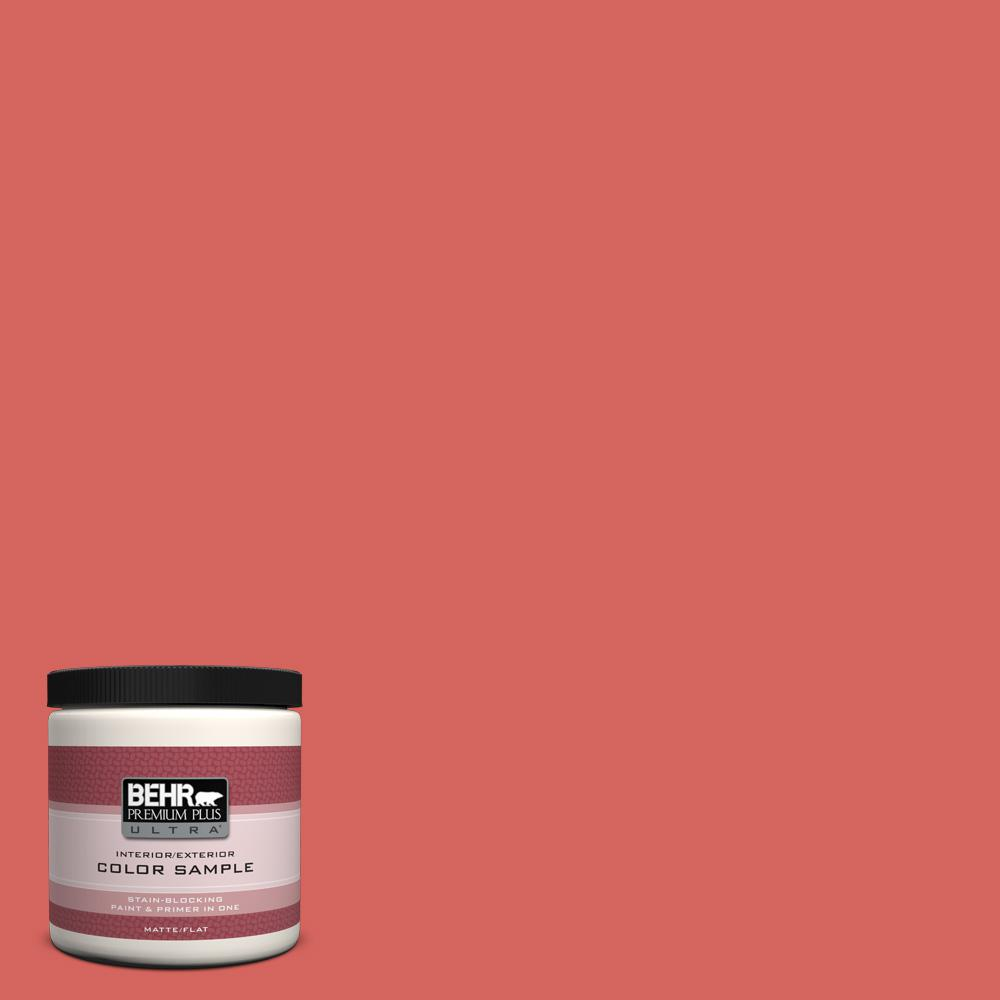 BEHR Premium Plus Ultra 8 oz. Home Decorators Collection Desert Coral Interior/Exterior Paint Sample