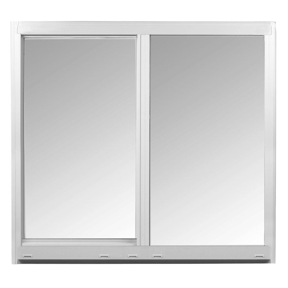Ply Gem 36 In X 80 In White Vinyl Sliding Patio Screen 580 The Home Depot