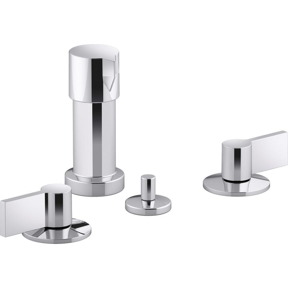 Kohler Components 2 Handle Widespread Bidet Faucet With Lever