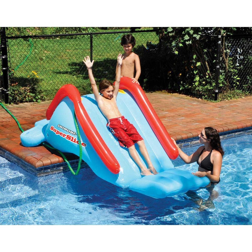 Superslide Water Slide Swimming Pool Inflatable Toy Kid