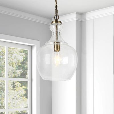Westford Brass and Seeded Glass Pendant