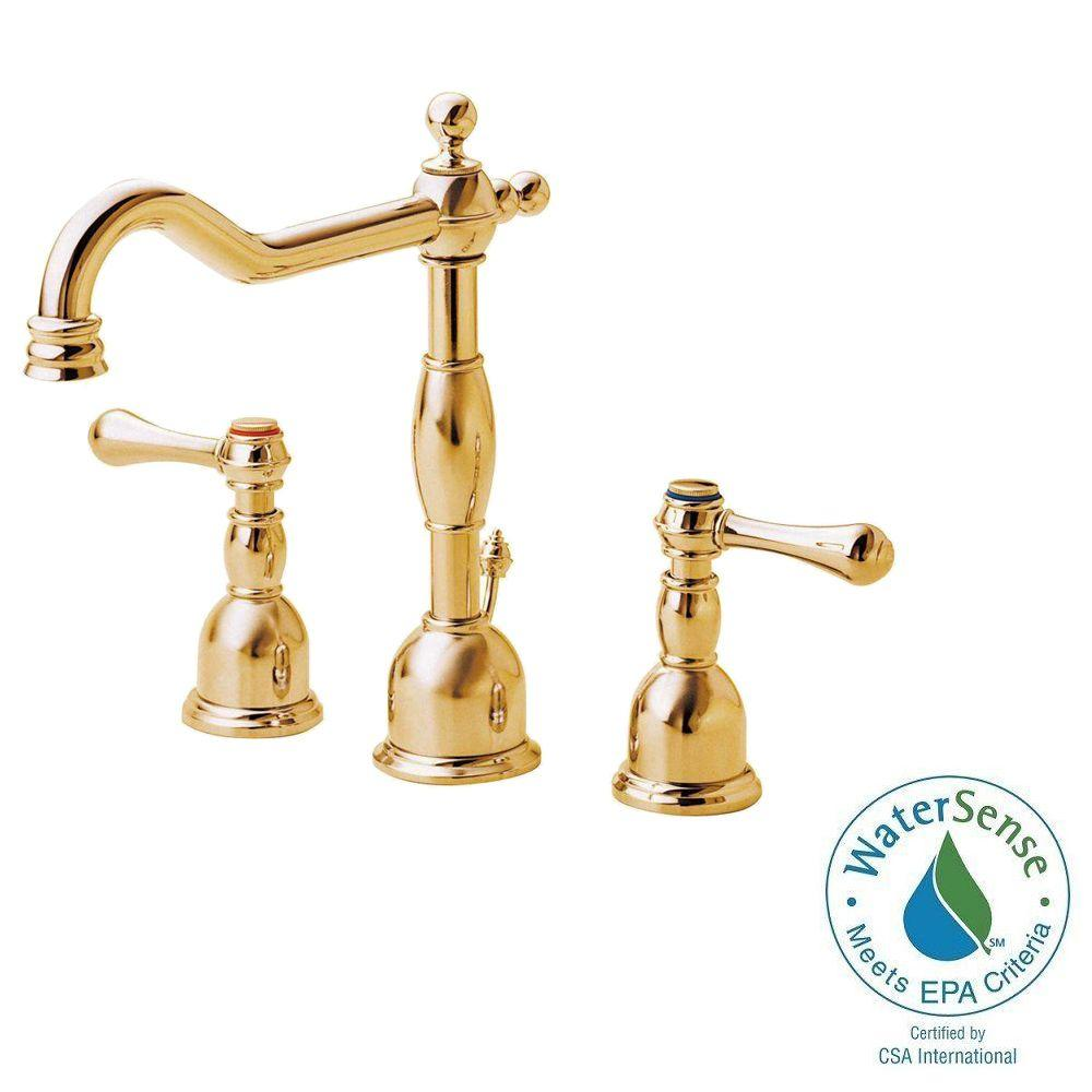 Beau Danze Opulence 8 In. Widespread 2 Handle High Arc Bathroom Faucet In  Polished
