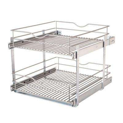 20 in. Double Tier Wire Pull-Out Basket