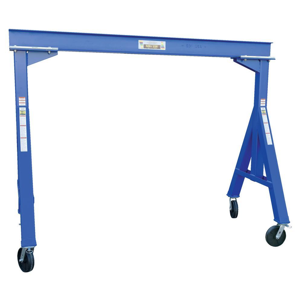 500 lb. 8 ft. L Fixed Steel Gantry Crane