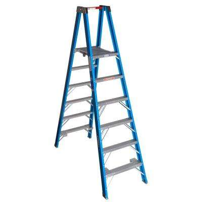 6 ft. Fiberglass Platform Step Ladder with 250 lb. Load Capacity Type I Duty Rating