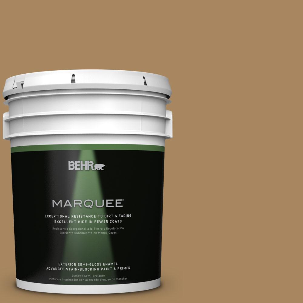 BEHR MARQUEE 5-gal. #N290-6 Trinket Gold Semi-Gloss Enamel Exterior Paint