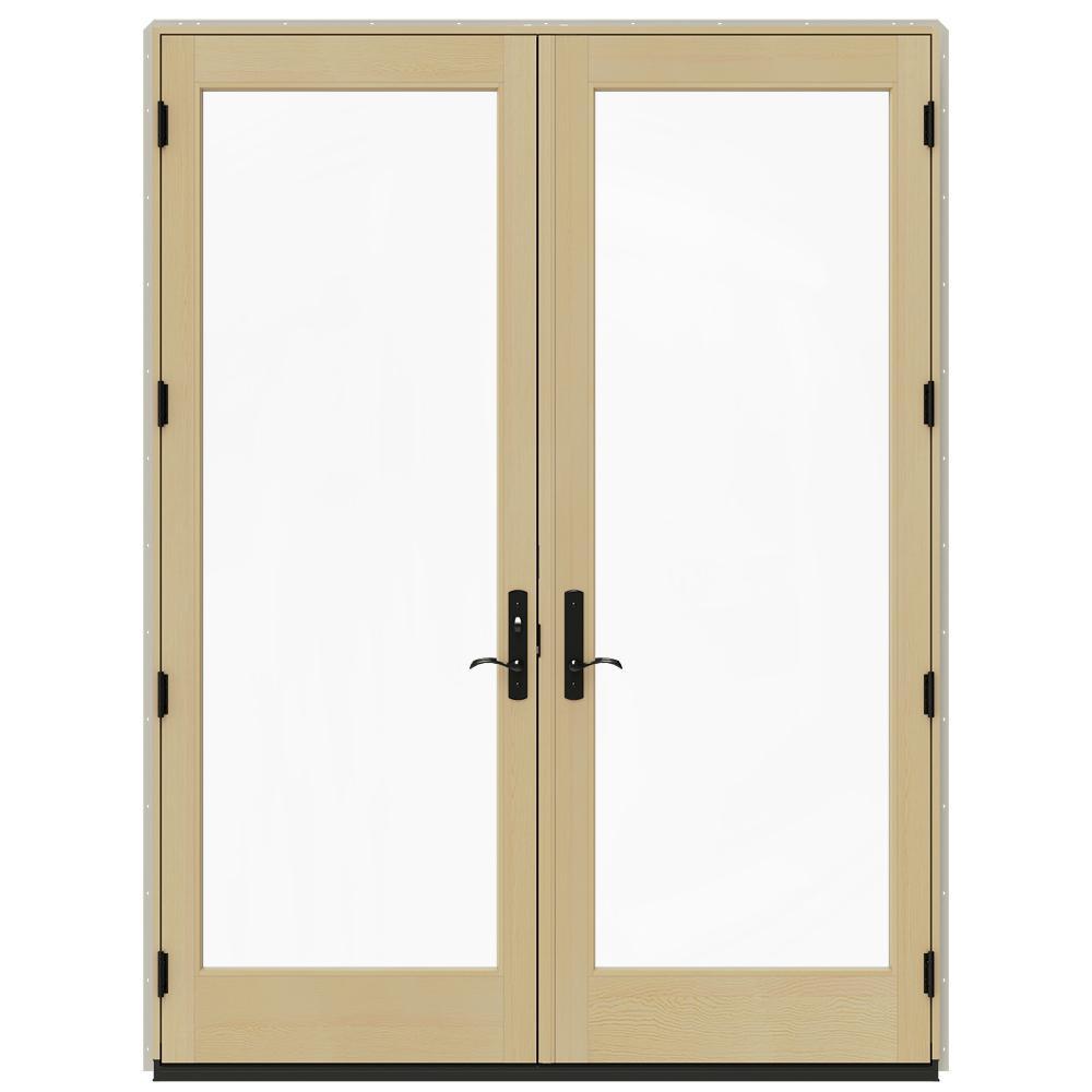Jeld Wen 72 In X 96 In W 4500 Desert Sand Clad Wood Right Hand Full Lite French Patio Door W