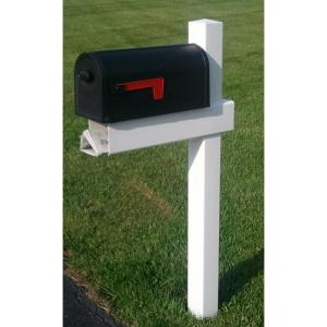 The Handy Post 54 3 8 In Adjule Arm Mailbox Sleeve Kit White With X Large Newspaper Holder Hp 1w Home Depot