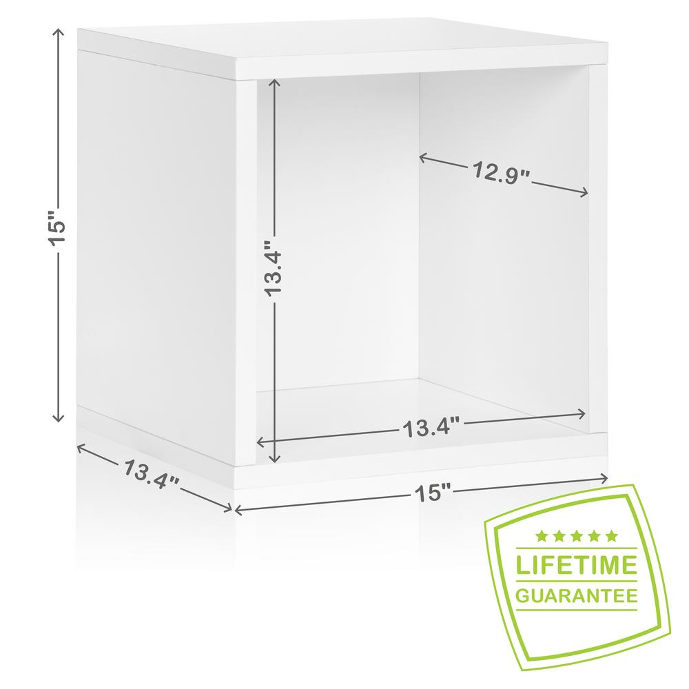 way basics blox system 134 in x 15 in x 15 in stackable large zboard storage cube organizer in pearl the home depot