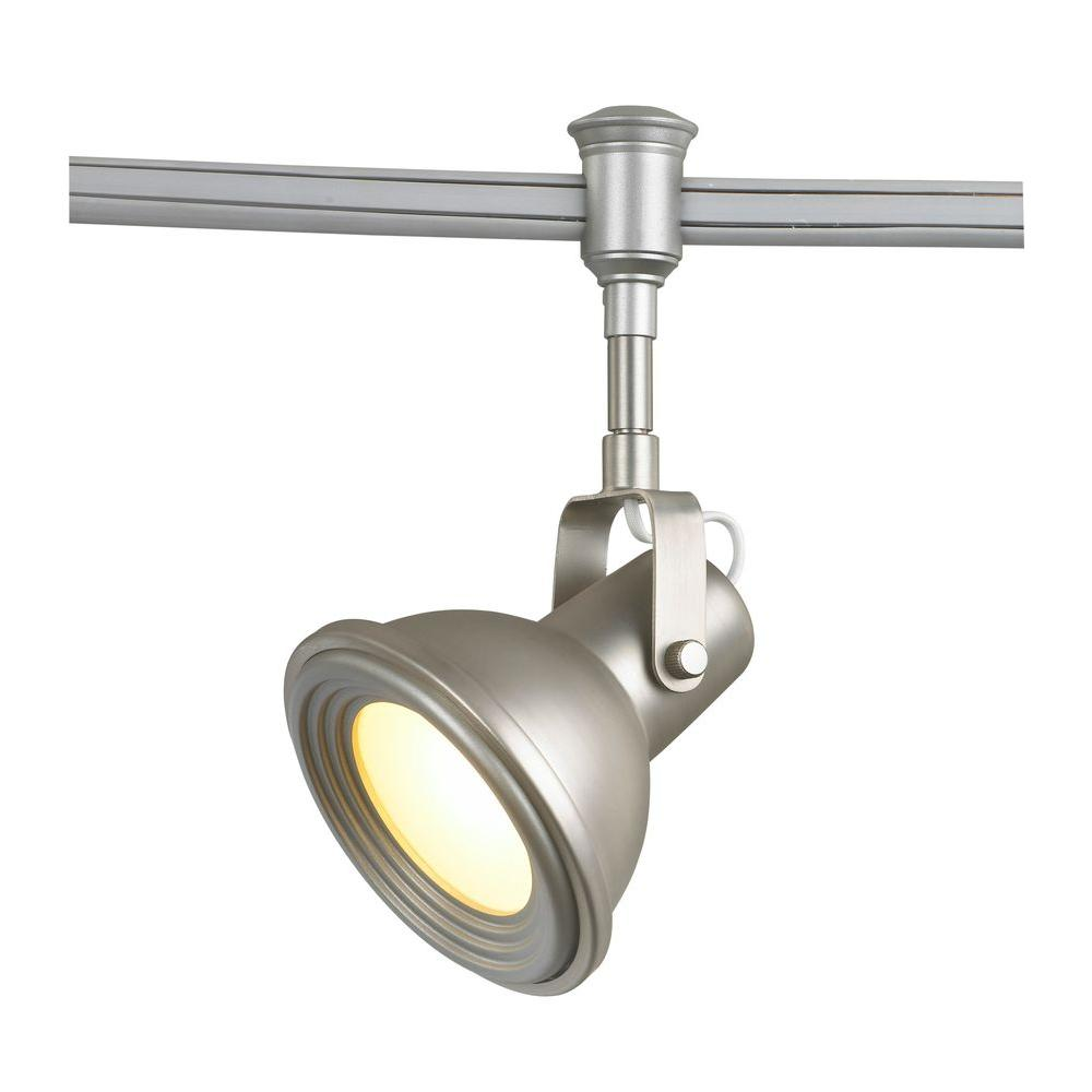 Commercial Electric Led Brushed Nickel Restoration Style Flexible Track Lighting Head