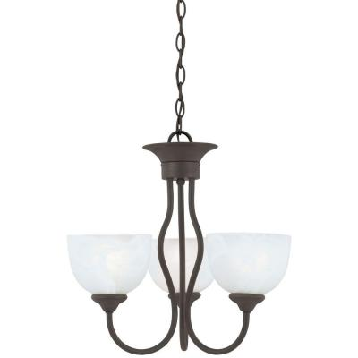 Tahoe 3-Light Painted Bronze Chandelier