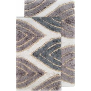 Chesapeake Merchandising Davenport 21 In X 34 In And 24 In X 40 In 2 Piece Bath Rug Set In Grey 44804 The Home Depot