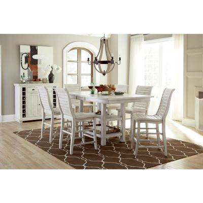 Willow Distressed White Rectangular Counter Table