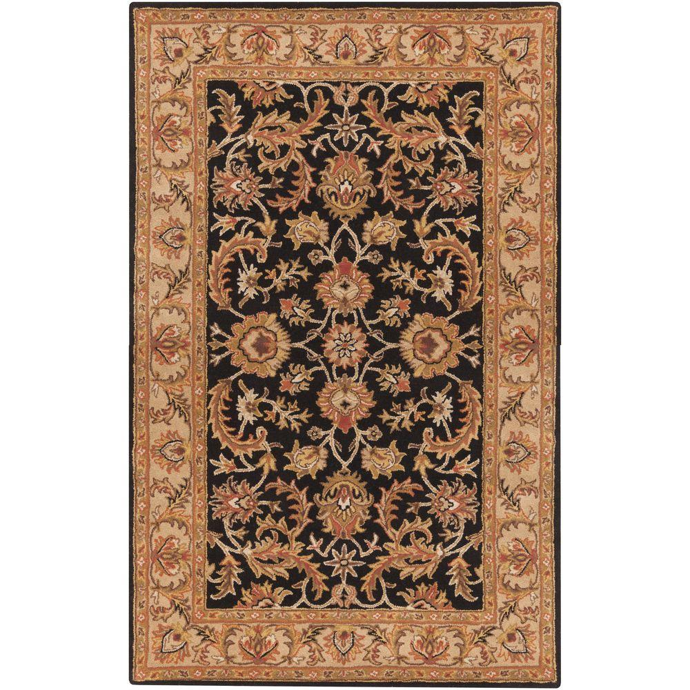 Middleton Virginia Black 5 ft. x 8 ft. Indoor Area Rug