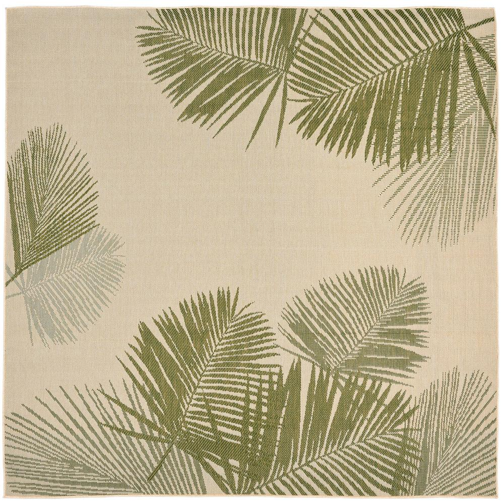 Baxter Tropical Leaf Green 8 Ft. X 8 Ft. Indoor/Outdoor