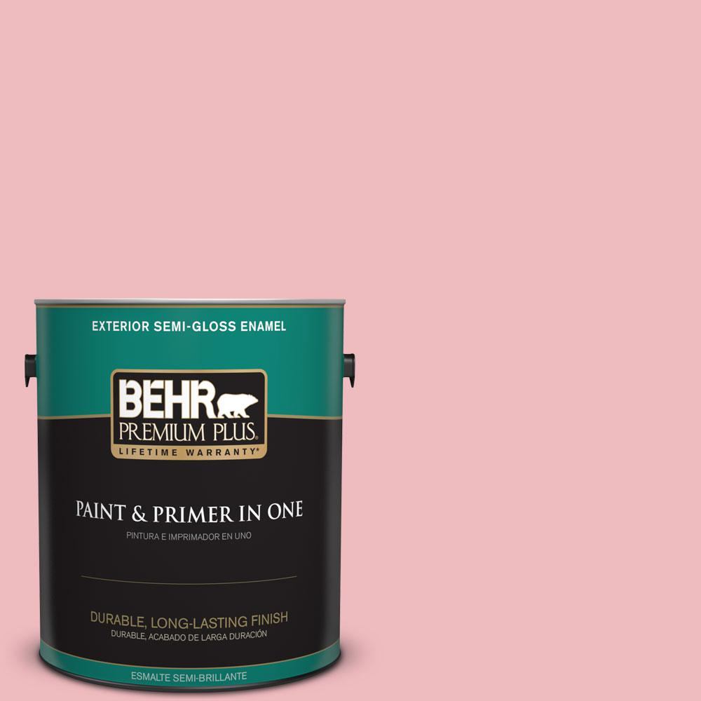 1-gal. #P160-2 Blush Rush Semi-Gloss Enamel Exterior Paint
