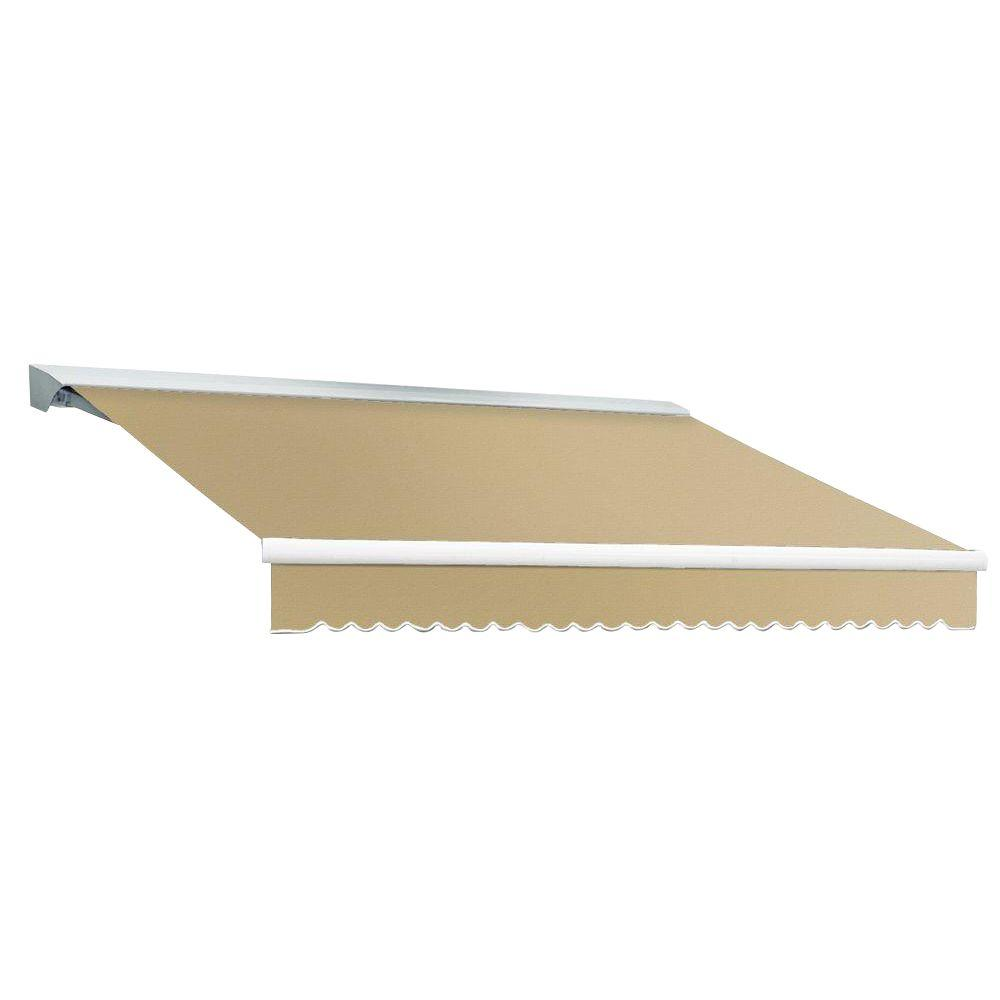 Beauty-Mark 10 ft. DESTIN EX Model Left Motor Retractable with Hood Awning (96 in. Projection) in Tan
