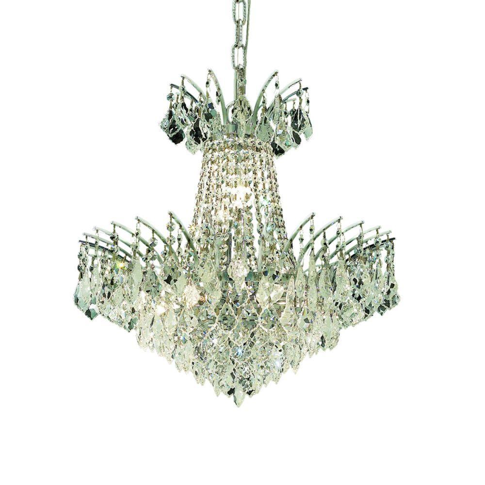 Elegant Lighting 13-Light Chrome Chandelier with Clear Crystal ...