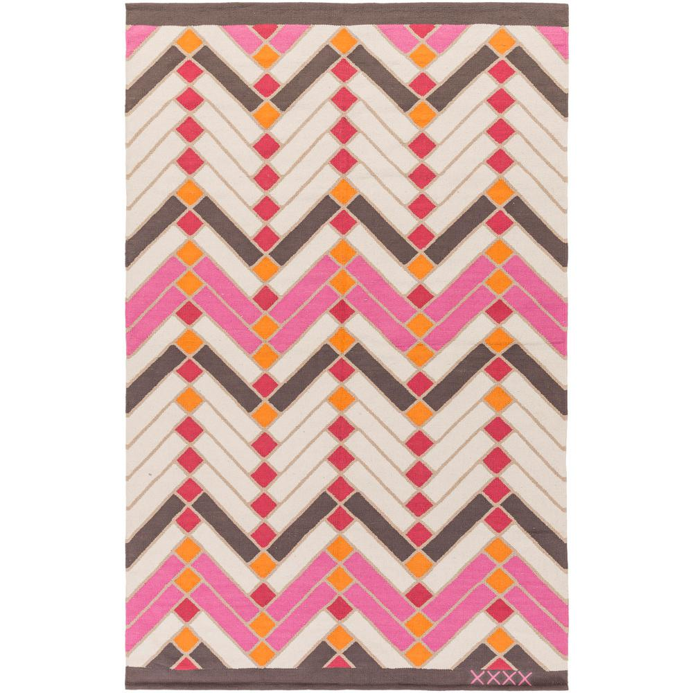 Labin Bright Pink 4 ft. x 6 ft. Indoor Area Rug