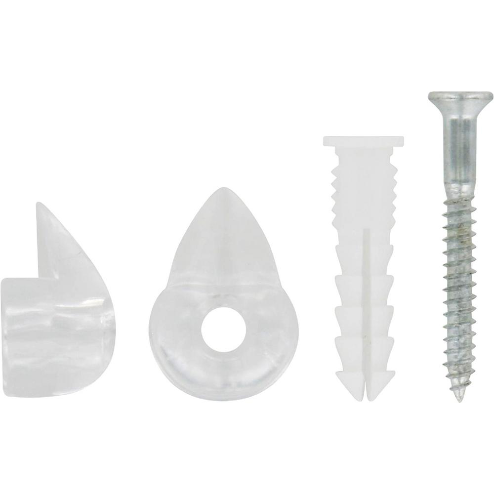Ook 1 4 In 20 Lb Fancy Mirror Clips 4 Pack 53203 The Home Depot