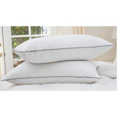 White Nikki Chu Scallop Quilted King Pillow