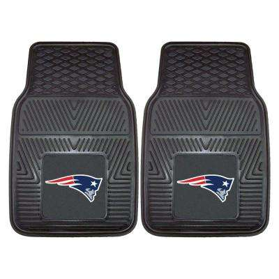 NFL New England Patriots Heavy Duty 2-Piece 18 in. x 27 in. Vinyl Car Mat