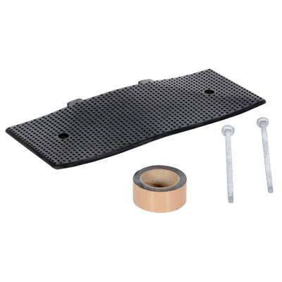 23.5 in. x 1.375 in. x 23.5 in. Black Rubber Male End Cap with Asphalt Kit for 108 in. Speed Bump