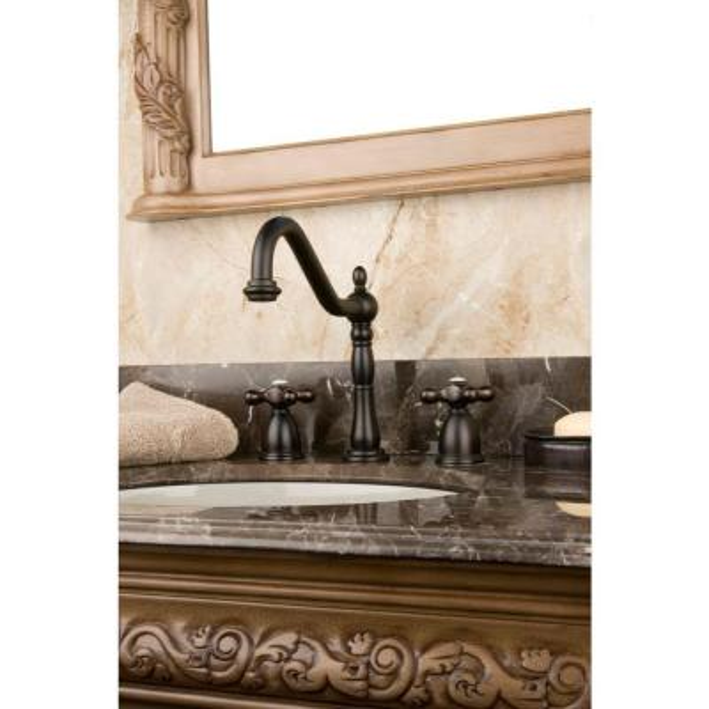 Victorian 8 in. Widespread 2-Handle Bathroom Faucet in Oil Rubbed Bronze
