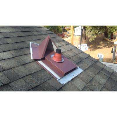 30 in. x 24 in. x 1 ft. Galvanized Color Coated Steel Flashing with Splitter