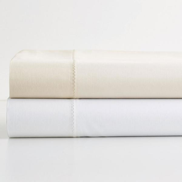 The Company Store Oxygen Solid White MicroCotton Sateen King Pillowcase