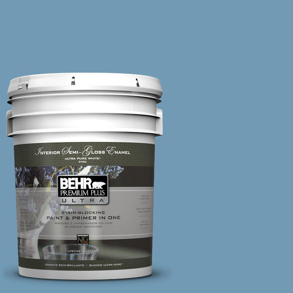 5-gal. #560D-5 Ocean View Semi-Gloss Enamel Interior Paint