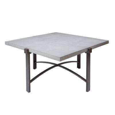 Lewis Gray Square Concrete Top Coffee Table