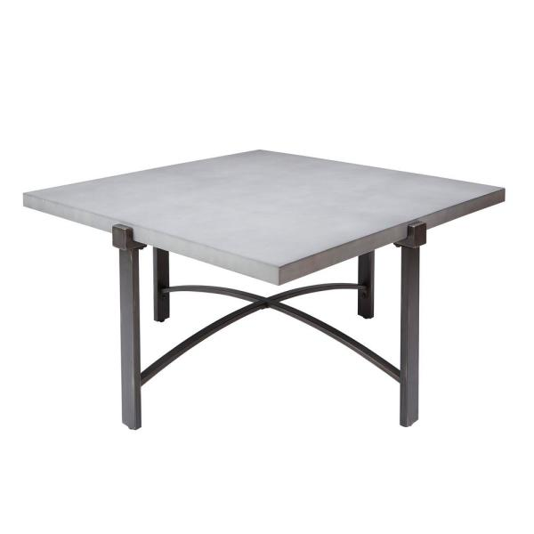Silverwood Furniture Reimagined Lewis Gray Square Concrete Top Coffee Table