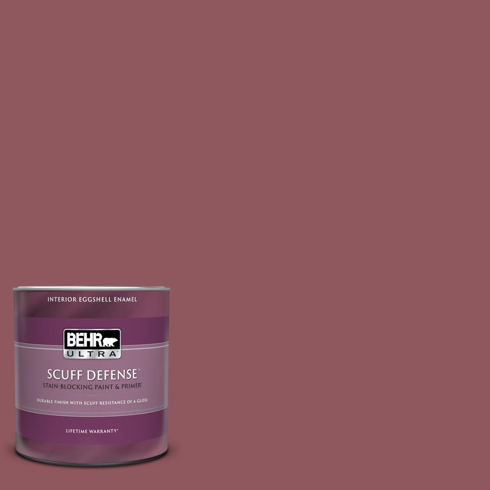 Behr Ultra 1 Qt Pmd 33 Fragrant Cherry Extra Durable Eggshell Enamel Interior Paint Primer 275304 The Home Depot