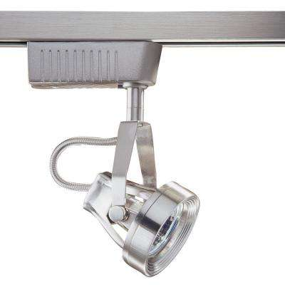 6601 Series Low-Voltage MR16 Satin Nickel Track Lighting Fixture