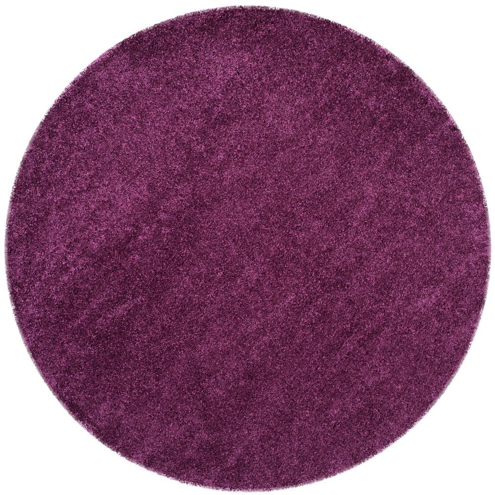 Purple Rug 2 Ft: Safavieh California Shag Purple 4 Ft. X 4 Ft. Round Area