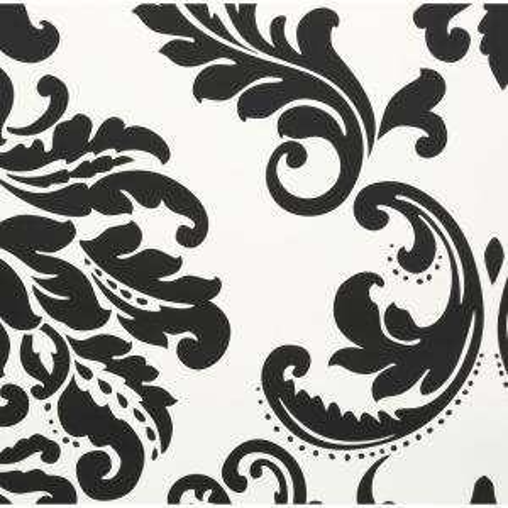 Nuwallpaper 30 75 Sq Ft Ariel Black And White Damask Peel